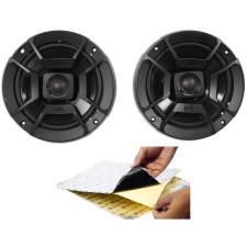 """(2) Polk Audio DB652 6.5"""" 300 Watt Car ATV/Motorcycle/Boat Speakers + Rockmat"""