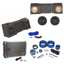 """Dual 10"""" Sub Box+(2)Subs+Amp+Kit For 01-16 Chevy Avalanche or Cadillac Escalade"""