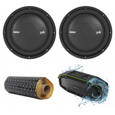 "(2) Polk Audio MM1042SVC 10"" 2400 Watt Car Subwoofers Subs+Rockmat+Free Speaker"