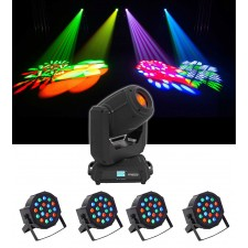 Chauvet DJ Intimidator Spot 375Z IRC LED Moving Head Light+(4) Par Wash Lights