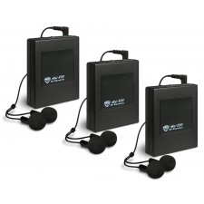 Set Of 3 Nady ALD800 RX AA Add-On Wireless Receivers And Ear Buds For ALD800