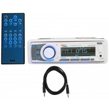 Boss MR752UAB Marine CD/MP3/USB/SD/Radio Player Receiver+Bluetooth+Remote+Cable