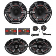 "MB Quart XC1-216 X-Line 6.5"" 180w Car Component Speakers+6x9"" Coaxial Speakers"
