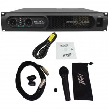 Crest Audio ProLite 5.0 5000 Watt Professional Power Amplifier+Peavey Microphone