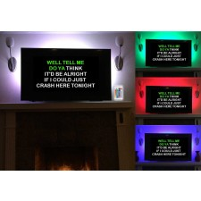 NYC Acoustics USB RGB LED Light Strip to Backlight Your TV For Home Karaoke