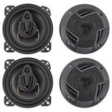 "(4) Rockville RV4.3A 4"" 3-Way Car Speakers 1000 Watts / 140w RMS CEA Rated Total"