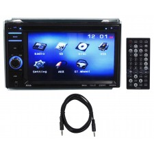 "Boss BV9356 6.2"" 2-Din Car Monitor DVD/USB/SD Player Radio Receiver + Aux Cable"
