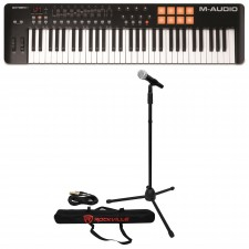 M-Audio Oxygen 61 MK IV 61-Key USB MIDI Keyboard Controller+Mic+Stand+Cable+Case
