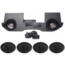 "2002-2016 Dodge Ram Quad/Crew Cab Powered Dual 10"" MTX Subs+Box+4) 6x9"" Speakers"