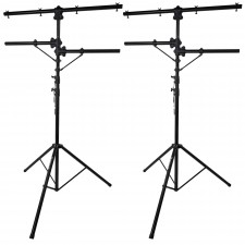 (2) Rockville RVLS1 12' Ft Tripod Lighting Tree Stand w/Side Bars