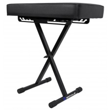 Rockville RKB61 Extra Thick Padded Foldable Keyboard Bench w/ Quick-Release