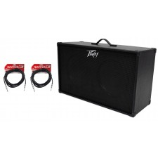 """PEAVEY 212 2x12"""" Speakers Guitar Amplifier Amp Extension Cabinet+2 Guitar Cables"""