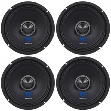 "(4) Rockville RXM68 6.5"" 600w 8 Ohm Mid-Bass Drivers Car Speakers, Kevlar Cone"