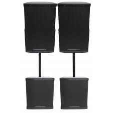 "(2) Cerwin Vega CVE-10 1000 Watt 10"" Powered DJ PA Speakers+(2) 18"" Subwoofers"
