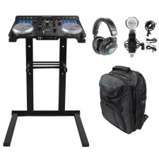 Hercules Universal DJ USB Bluetooth Controller+Stand+Mic+Headphones+Backpack