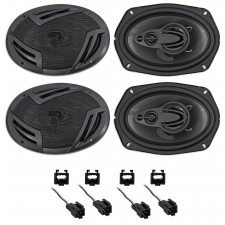 """Rockville 6x9"""" Front+Rear Speaker Replacement Kit For 2001-2006 Dodge Stratus"""