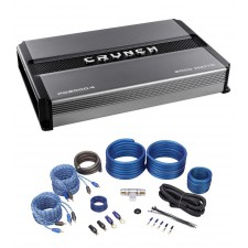 Crunch PD2000.4 2000w 4-Channel Pro Power Car Stereo Amplifier Class AB+Amp Kit