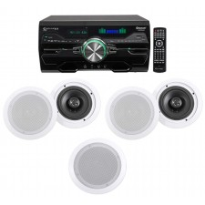 """Technical Pro 4000w Home Theater DVD Receiver w/Bluetooth/USB+(5) 6.5"""" Speakers"""