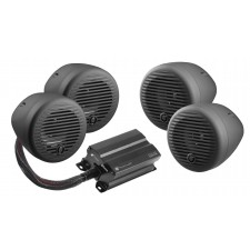 "Planet Audio PMC4B (4) 3"" Motorcycle/ATV Bluetooth Handlebar Speakers+Amplifier"