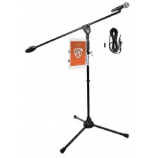 "Samson Microphone+Tripod Base Mic Stand w/ 31"" Boom+Smartphone/Tablet/iPad Mount"