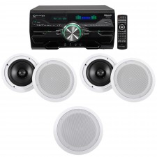 """Technical Pro 4000w Home Theater DVD Receiver w/Bluetooth/USB+(5) 8"""" Speakers"""