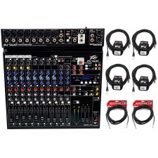 Peavey PV 14AT PV14AT Mixer,8 mic in,USB,Compressor/FX+Bluetooth+AutoTune+Cables