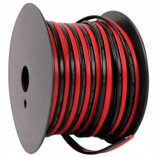 Rockville R14GSBR75 Red/Blk 14 Gauge 75' Ft. Mini Spool Car Audio Speaker Wire