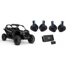 """Can-Am MAVERICK X3/X3 Max 6.5"""" Rollcage Tower Speakers+4-Ch Bluetooth Amp+Remote"""
