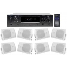 """Technical Pro 6000w (6) Zone, Home Theater Bluetooth Receiver+(8) 5.25"""" Speakers"""