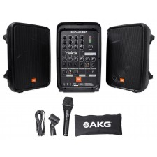 """JBL EON208P Portable PA System / Pair 8"""" Speakers+Powered 8 Chan Mixer/Bluetooth"""