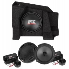 "10"" Sub+Amp+Speakers For 2007-15 Chevy Silverado/GMC Sierra 1500/2500 Double Cab"