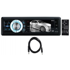 "Boss BV7280 3.2"" In-Dash Car Monitor Digital USB SD AM/FM Receiver + Aux Cable"