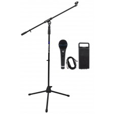Rockville RMC-XLR High-End Metal Handheld Wired Microphones +Tripod Base Stand