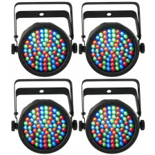 (4) Chauvet DJ SLIMPAR38 Slim Par Can 38 Lights SLIMPAR