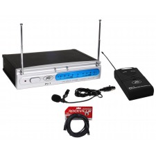 Peavey PV-1 U1 BL 923.70 Mhz UHF Wireless Lavalier Microphone System+XLR Cable