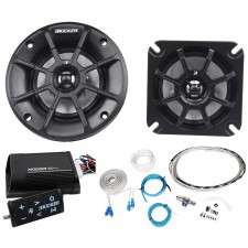 "Pair Kicker 40PS44 4"" 60W ATV/Motorcycle Speakers+Bluetooth Amplifier+Wire Kit"