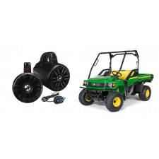 "John Deere Gator XUV/RSX Boss 4"" 500w Powered Bluetooth Tower Speakers+Remote"