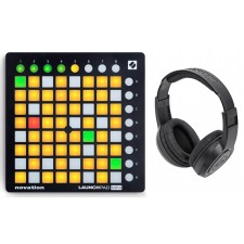 Novation LAUNCHPAD MINI MK2 MKII MIDI DJ Ableton Controller+Samson Headphones
