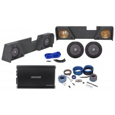 """2014-17 GMC/Chevy Double Cab 10"""" Kicker Subwoofers+Mono Amplifier+Sub Box+Wires"""