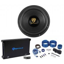 "Rockville W12K9D4 12"" 4000 Watt Car Audio Subwoofer+Mono Amplifier+Amp Kit"
