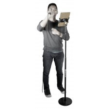 Rockville iPad/iPhone/Android/Tablet Youtube Karaoke Music Stand w/Round-Base