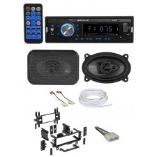 "87-95 JEEP WRANGLER YJ Car Digital Media Receiver+Front 4x6"" Speakers+Wire Kits"