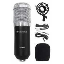 Rockville RCM01 Pro Recording Condenser Podcasting Podcast Microphone Mic