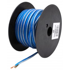 Rockville R14GBLS50 Silver/Blue 14 Gauge 50' Ft. Spool Car Audio Speaker Wire