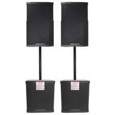 "(2) Cerwin Vega CVE-15 1000 Watt 15"" Powered DJ PA Speakers+(2) 18"" Subwoofers"