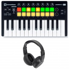 Novation LAUNCHKEY MINI MK2 25 Key USB Keyboard Controller+Headphones+Mic+Case