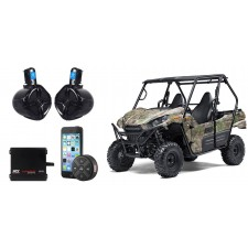 "Kawasaki TERYX 6.5"" Tower Speakers+2-Channel Amplifier Amp+Bluetooth Controller"