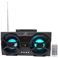 "NYC Acoustics NPB3 Dual 4"" 30 Watt Bluetooth Boombox Speaker w/USB, SD, LED"