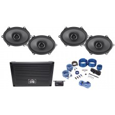 "MTX XTHUNDER800.5 800 Watt RMS 5-Channel Amplifier+(4) 6x8"" MTX Thunder Speakers"