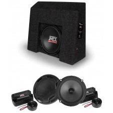 "10"" Sub+Component Speakers For 2007-2016 Chevrolet Silverado/GMC Sierra Crew Cab"